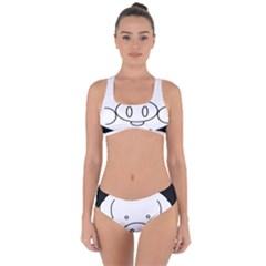 Pig Logo Criss Cross Bikini Set by Sudhe