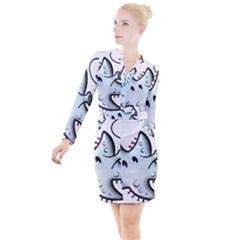 Whistling Starfish   By Larenard Studios Button Long Sleeve Dress by LaRenard