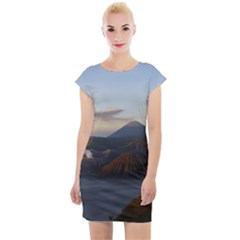 Sunrise Mount Bromo Tengger Semeru National Park  Indonesia Cap Sleeve Bodycon Dress