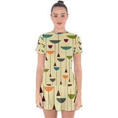 Zappwaits Retro 2 Drop Hem Mini Chiffon Dress by zappwaits