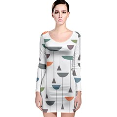 Zappwaits Retro 3 Long Sleeve Bodycon Dress by zappwaits