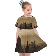 Borobudur Temple  Indonesia Kids  Sailor Dress by Sudhe