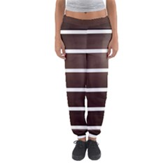 Minimalis Brown Door Women s Jogger Sweatpants by Sudhe