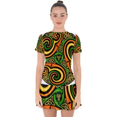 Celtic Celts Circle Color Colors Drop Hem Mini Chiffon Dress by Sudhe