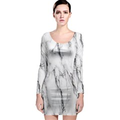 Marble Granite Pattern And Texture Long Sleeve Bodycon Dress by Sudhe