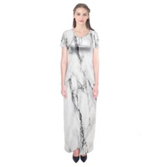 Marble Granite Pattern And Texture Short Sleeve Maxi Dress by Sudhe