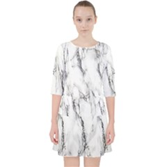 Marble Granite Pattern And Texture Pocket Dress by Sudhe