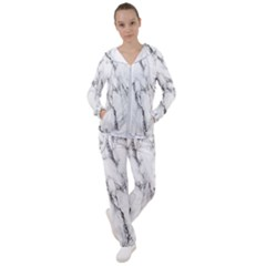 Marble Granite Pattern And Texture Women s Tracksuit by Sudhe