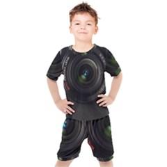 Vintage Camera Digital Kids  Tee And Shorts Set by Sudhe