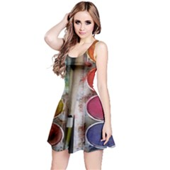 Paint Box Reversible Sleeveless Dress