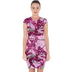 Love Browning Deer Glitter Capsleeve Drawstring Dress  by Sudhe
