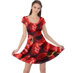 Red Chili Cap Sleeve Dress
