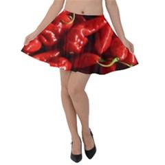 Red Chili Velvet Skater Skirt