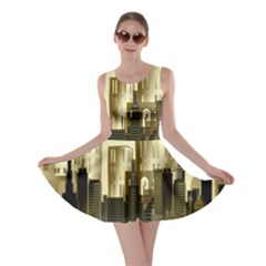 Architecture City House Skater Dress