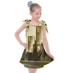 Architecture City House Kids  Tie Up Tunic Dress by Sudhe