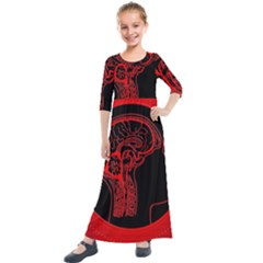 Artificial Intelligence Brain Think Kids  Quarter Sleeve Maxi Dress by Sudhe