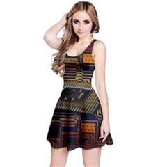 Processor Cpu Board Circuits Reversible Sleeveless Dress