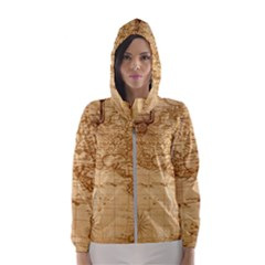 Map Discovery America Ship Train Hooded Windbreaker (women) by Sudhe