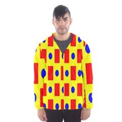 Pattern Design Backdrop Hooded Windbreaker (men) by Sudhe