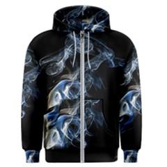 Smoke Flame Dynamic Wave Motion Men s Zipper Hoodie