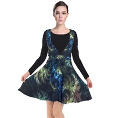 Abstract Digital Art Fractal Plunge Pinafore Dress