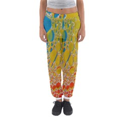 Bubbles Abstract Lights Yellow Women s Jogger Sweatpants by Sudhe