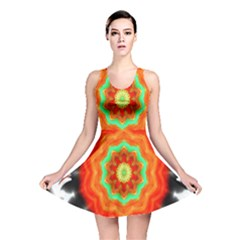 Abstract Kaleidoscope Colored Reversible Skater Dress