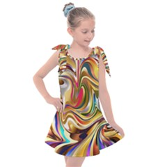 Wallpaper Psychedelic Background Kids  Tie Up Tunic Dress by Sudhe