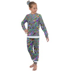 Waves Background Wallpaper Stripes Kids  Long Sleeve Set  by Sudhe