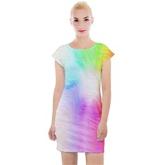 Psychedelic Background Wallpaper Cap Sleeve Bodycon Dress by Sudhe