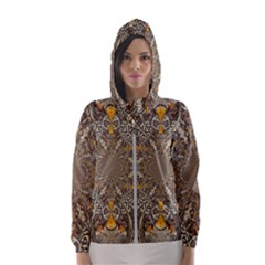 Abstract Digital Geometric Pattern Hooded Windbreaker (women) by Sudhe