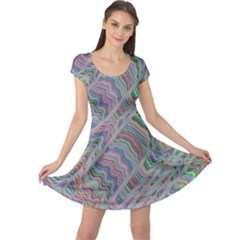 Psychedelic Background Cap Sleeve Dress