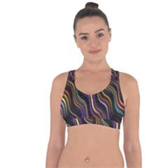 Psychedelic Background Wallpaper Cross String Back Sports Bra by Sudhe