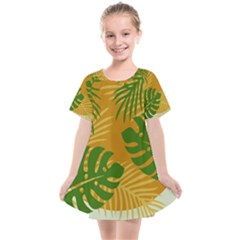 Leaf Leaves Nature Green Autumn Kids  Smock Dress by Sudhe