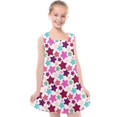 Stars Pattern Kids  Cross Back Dress by Sudhe