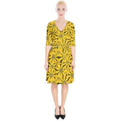 Texture Flowers Nature Background Wrap Up Cocktail Dress