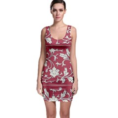 Floral Pattern Background Bodycon Dress