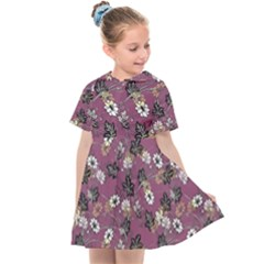 Beautiful Floral Pattern Background Kids  Sailor Dress by Sudhe