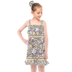 Floral Pattern Background Kids  Overall Dress by Sudhe