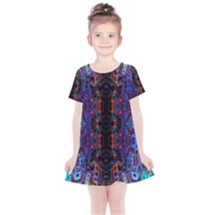 Kaleidoscope Art Pattern Ornament Kids  Simple Cotton Dress by Sudhe