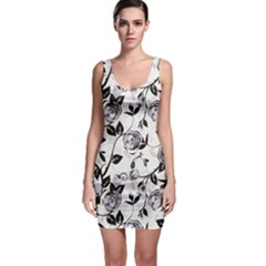 Floral Pattern Background Bodycon Dress by Sudhe