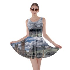 Architecture Big Ben Bridge Buildings Skater Dress