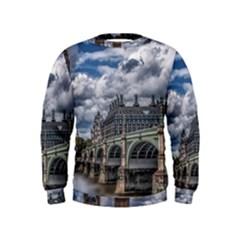 Architecture Big Ben Bridge Buildings Kids  Sweatshirt