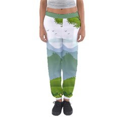 Forest Landscape Photography Illustration Women s Jogger Sweatpants