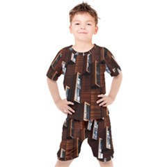 Abstract Architecture Building Business Kids  Tee And Shorts Set by Sudhe