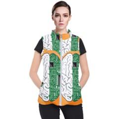 Technology Brain Digital Creative Women s Puffer Vest by Sudhe
