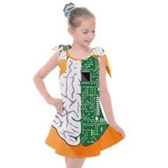 Technology Brain Digital Creative Kids  Tie Up Tunic Dress by Sudhe