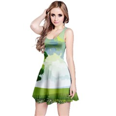 Landscape Nature Natural Sky Reversible Sleeveless Dress