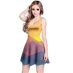 Image Sunset Landscape Graphics Reversible Sleeveless Dress