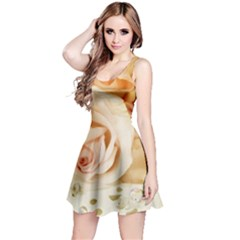 Roses Plate Romantic Blossom Bloom Reversible Sleeveless Dress